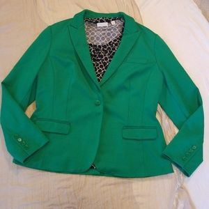 INC Green Dress Blazer Size PL